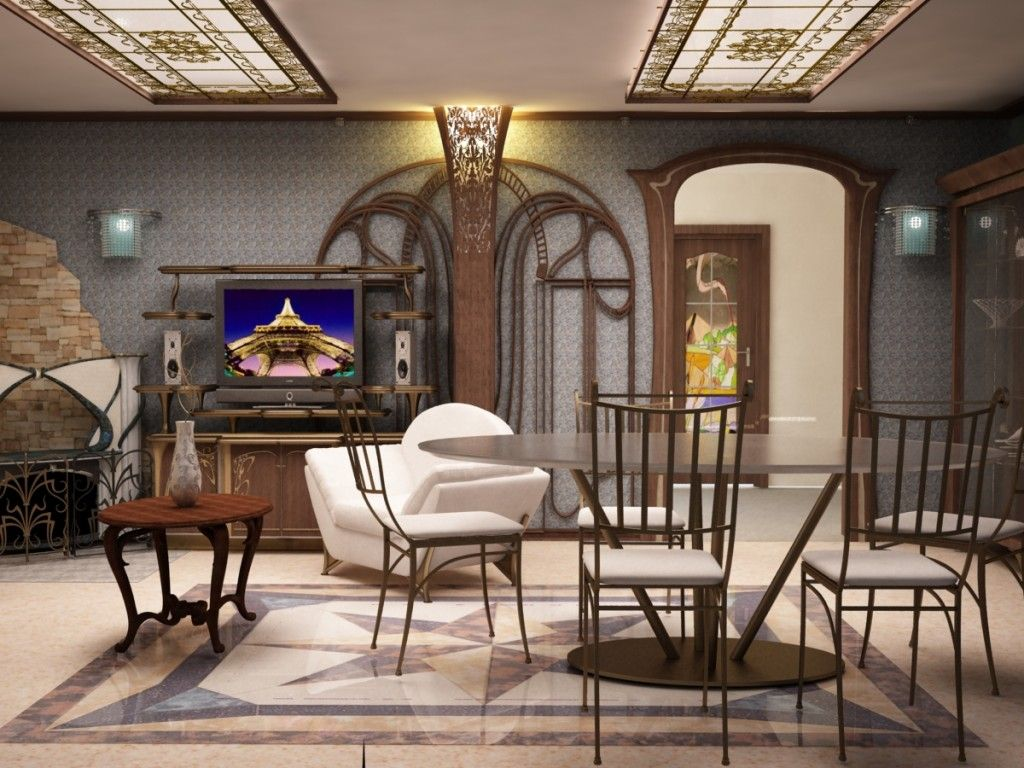 Art nouveau interior design style - Interior design styles living room ...