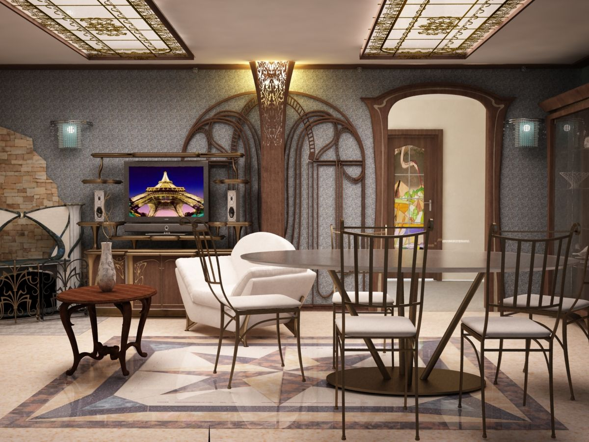 High Quality This Is The Main Feature Of Style, Its Main Focus. Art Nouveau Interior  Design ...