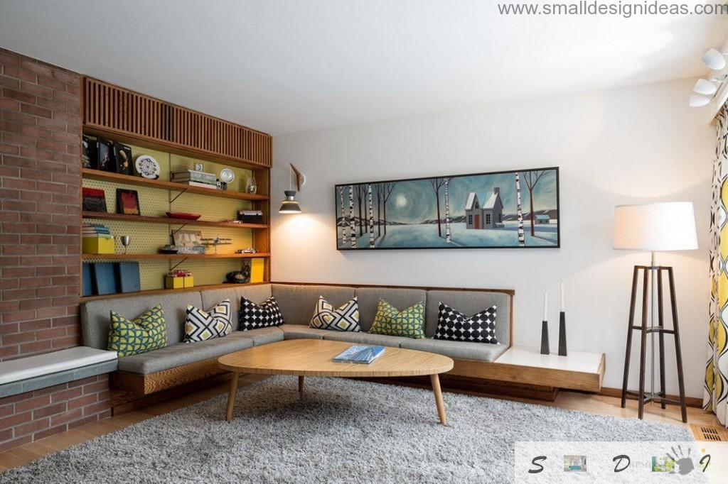 angle upholstered furniture in the white living room