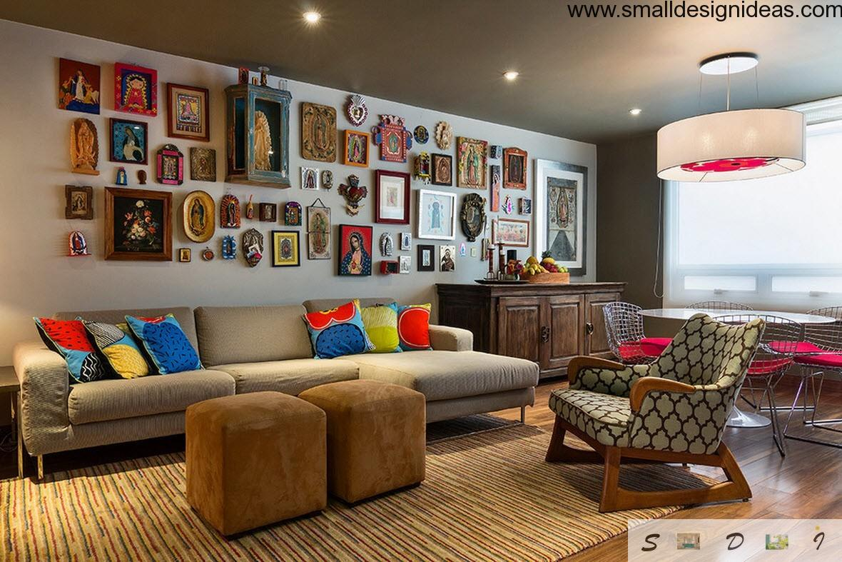 Icon Collectioner Interior In The Modern Eclectic Living Room Design