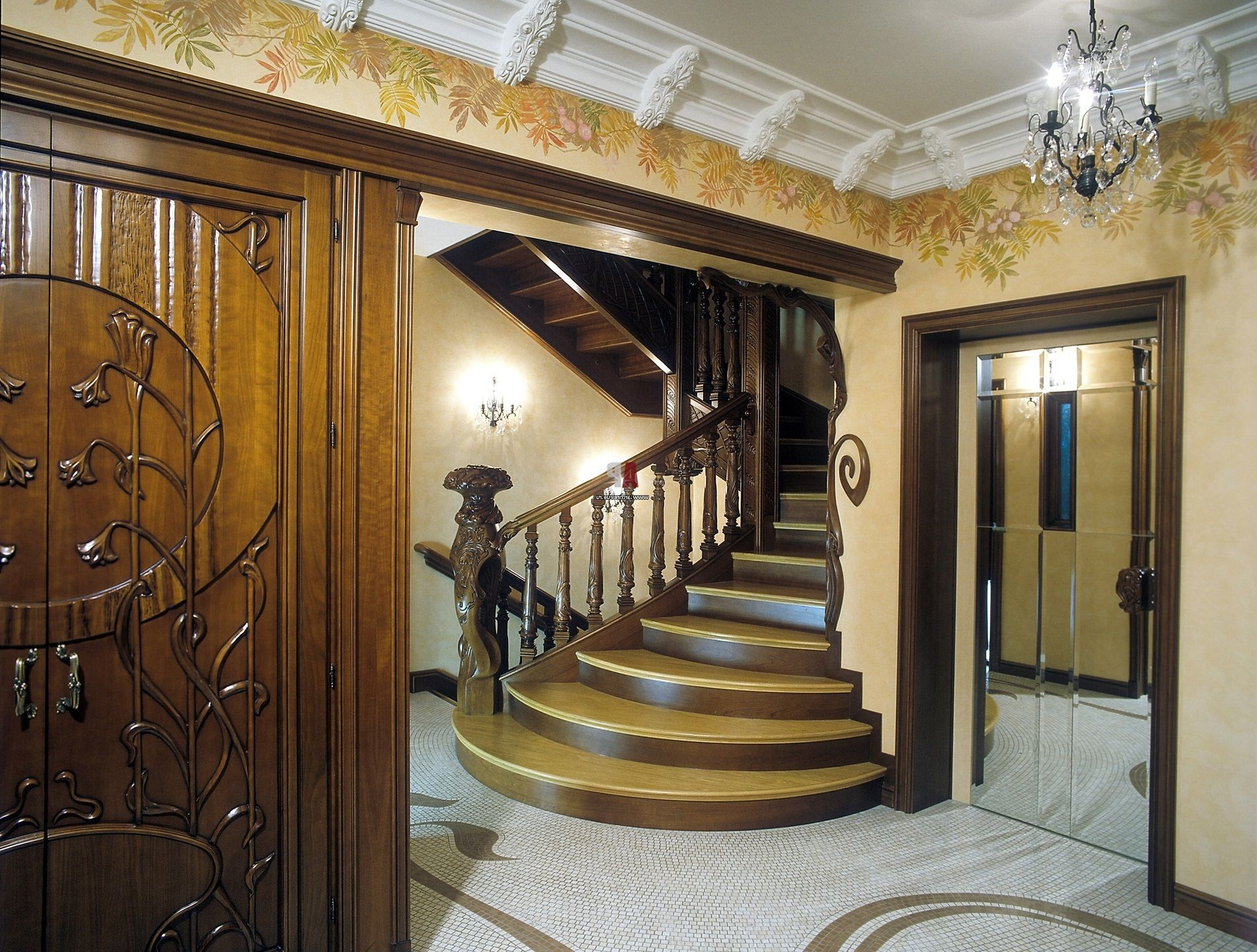 The interior in the style of Art Nouveau, which is instantly attracts with  its originality and a certain magic, is in demand for registration of ...