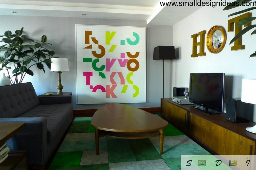 Modern living room color scheme ideas depicted on the bright photo