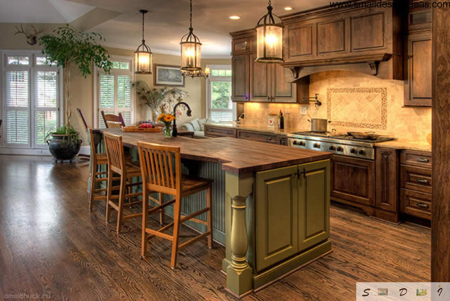 Country kitchen design - Country style kitchen cabinets design ...