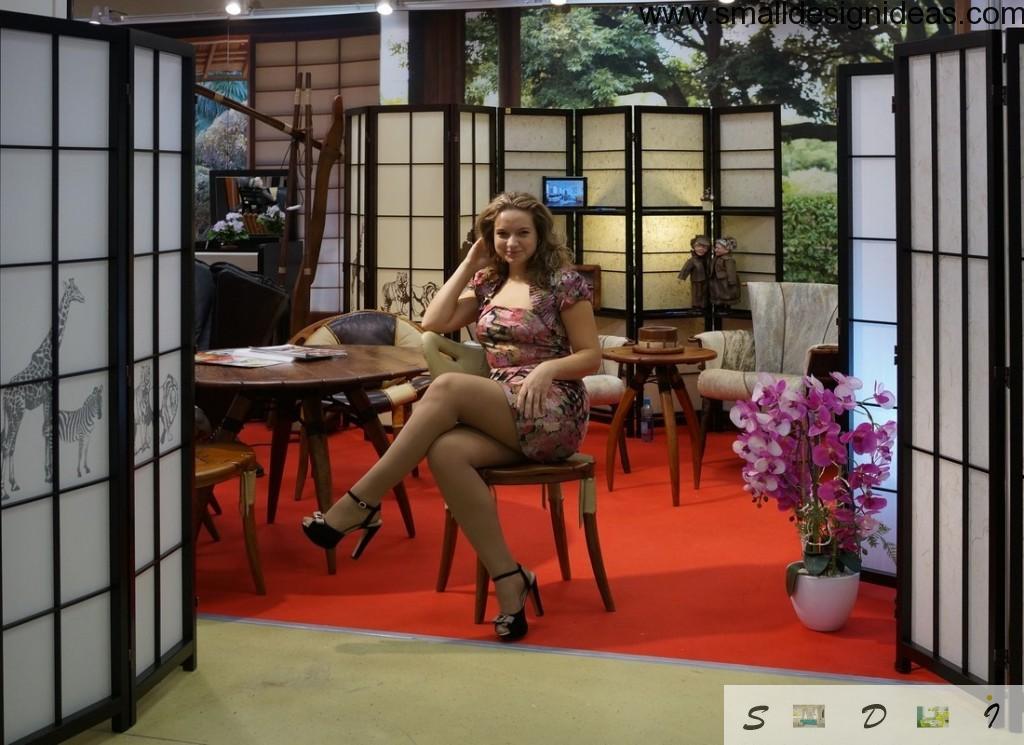 Open-air beauty salon and fair in Japanese style