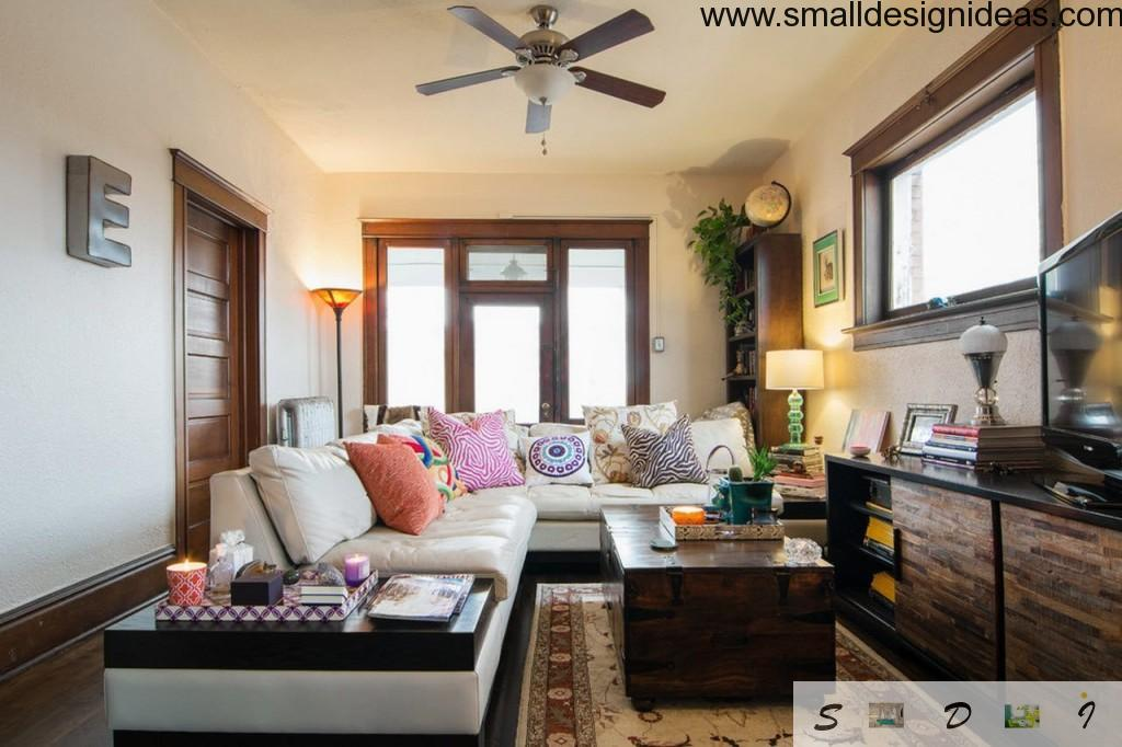 Living room paint ideas in the eclectic interior looks bright