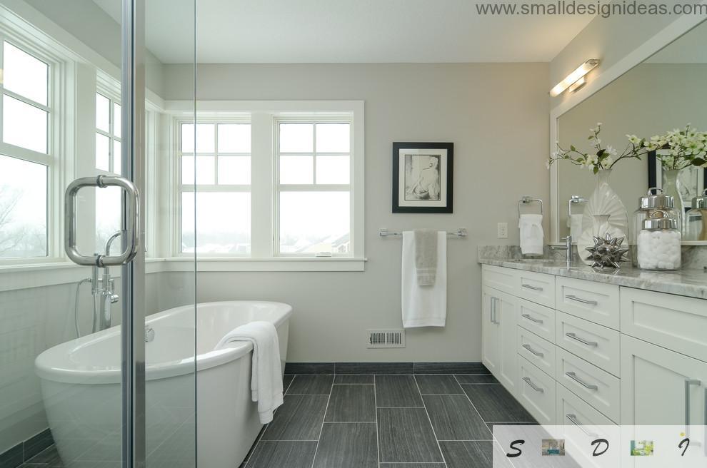 Impeccably white master design ideas for the bathroom interior