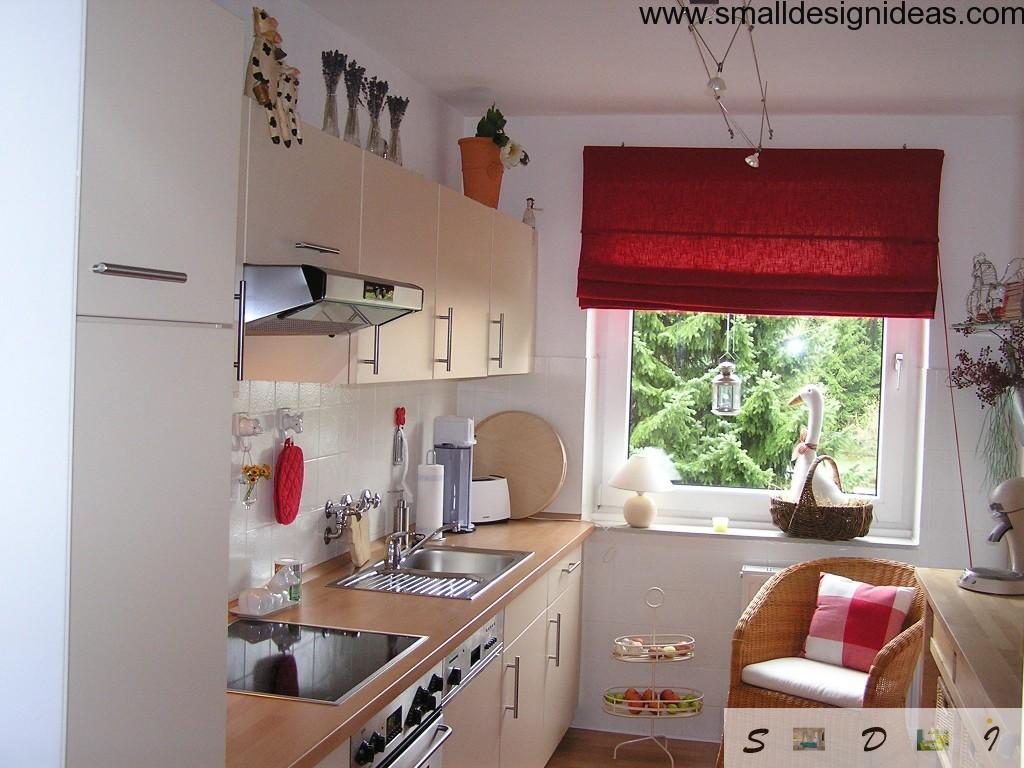 Nice cozy and homey galley kitchen with full of contemporary design ideas