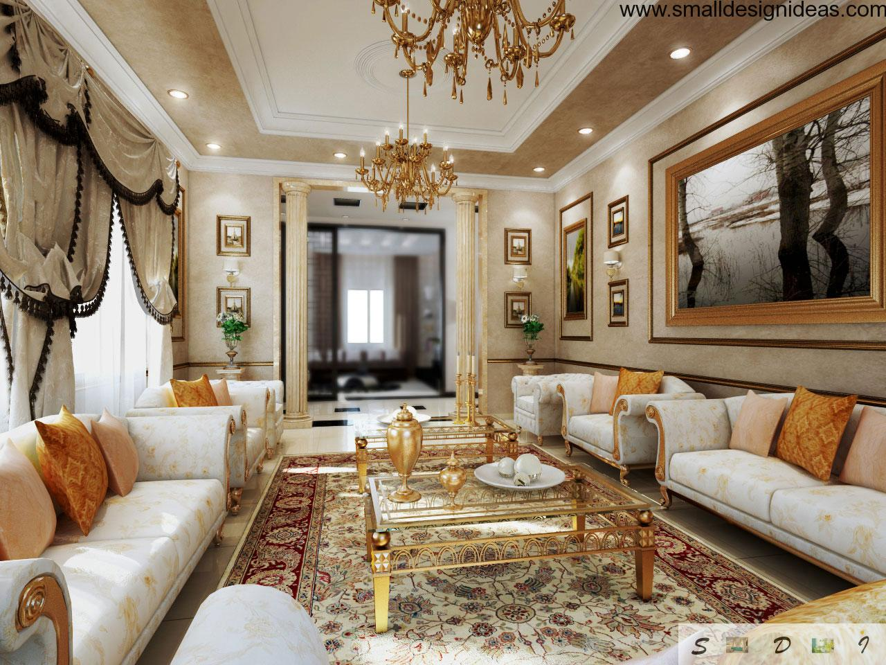 Rococo interior design style for Sala de estar victoriana