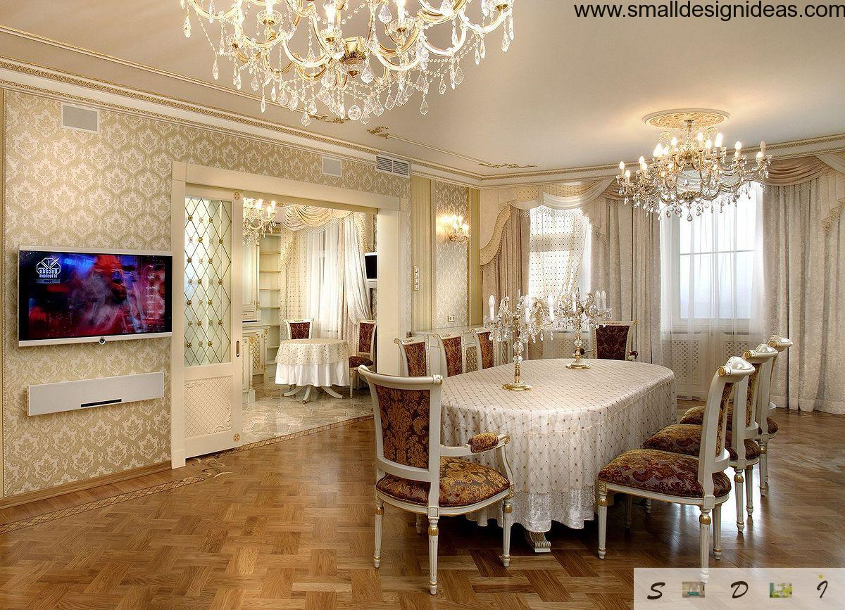 To Order The Design Of Apartment Or House In Empire Style Means Bring It Into Interior Space Calm Solemnity Luxury And Grace