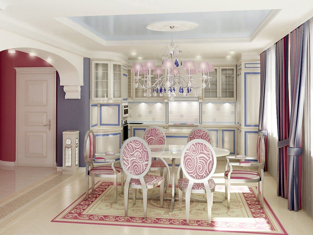 Good Nice And Warm Kitchen In The Baroque Interior Design Style For Joyful  Pastime. U201c