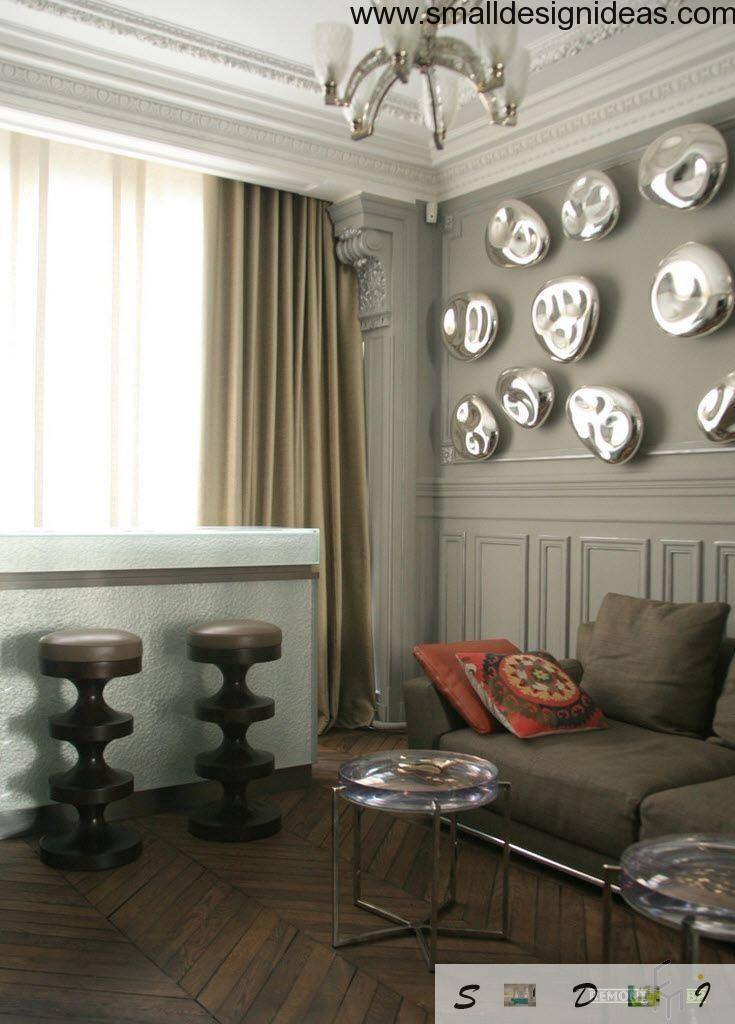 gray interior in the modern eclectic living room