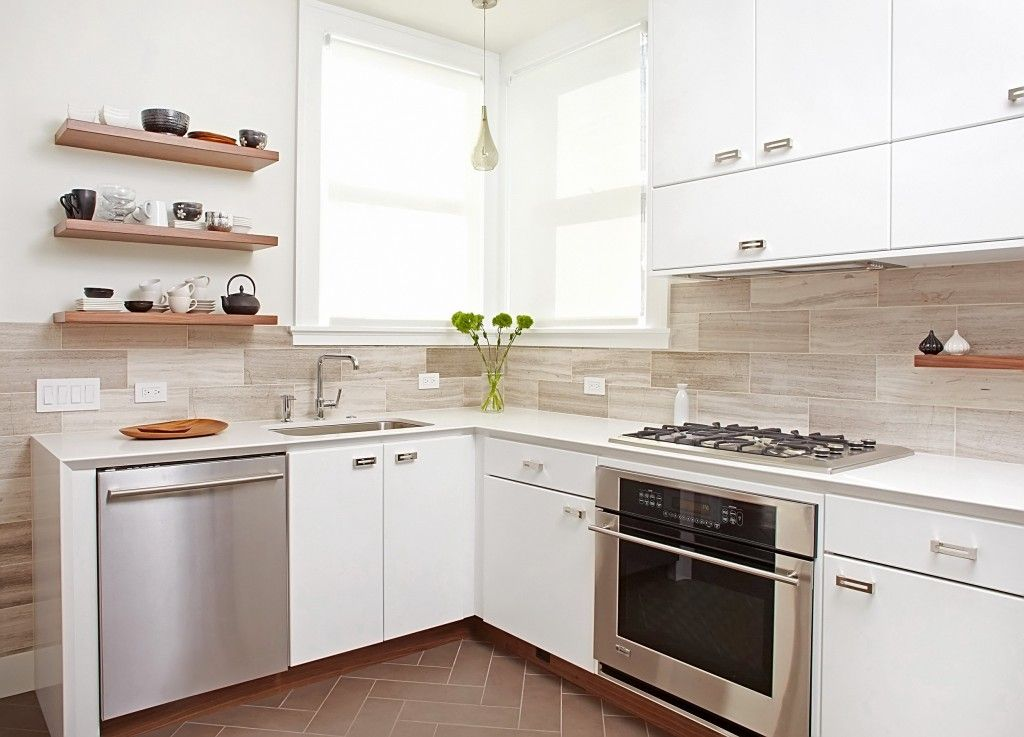 Corner Window is the best for small kitchen as allows to enlight every surface
