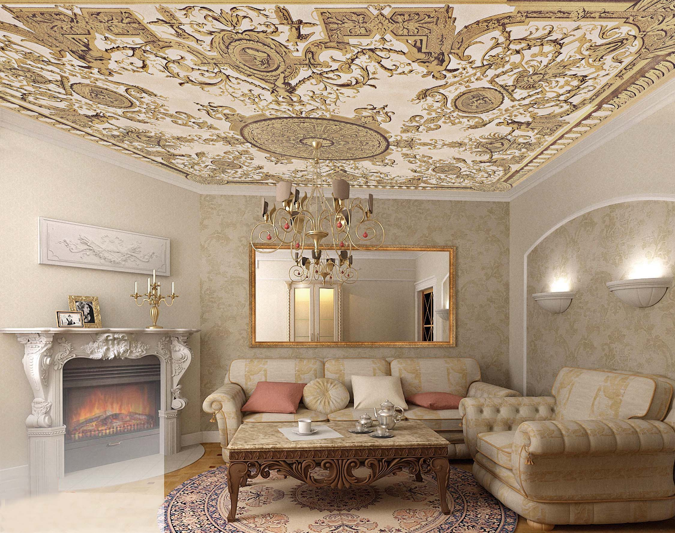 Renaissance Style Demands Strict And Discreet Color Gamma To Decorate The  Room. Furniture Is No