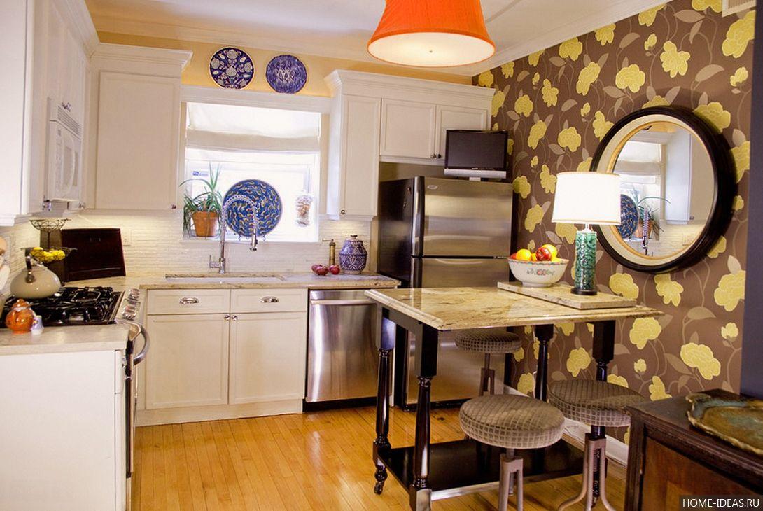 дизайн стен в маленькой кухне фото