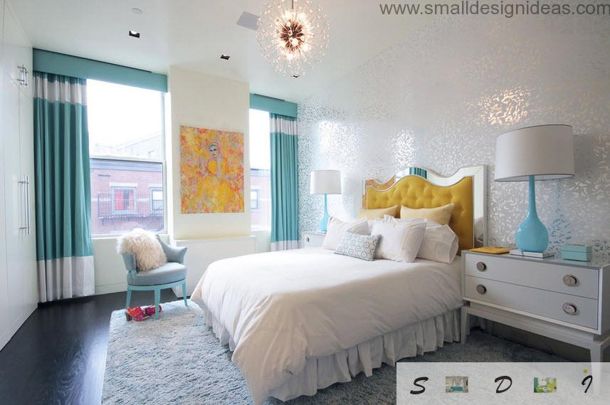 Light turquoise interior for the teen bedroom