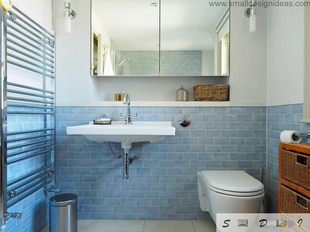 Simple but rather effective design of the bathroom in the modern apartment in Netherlands
