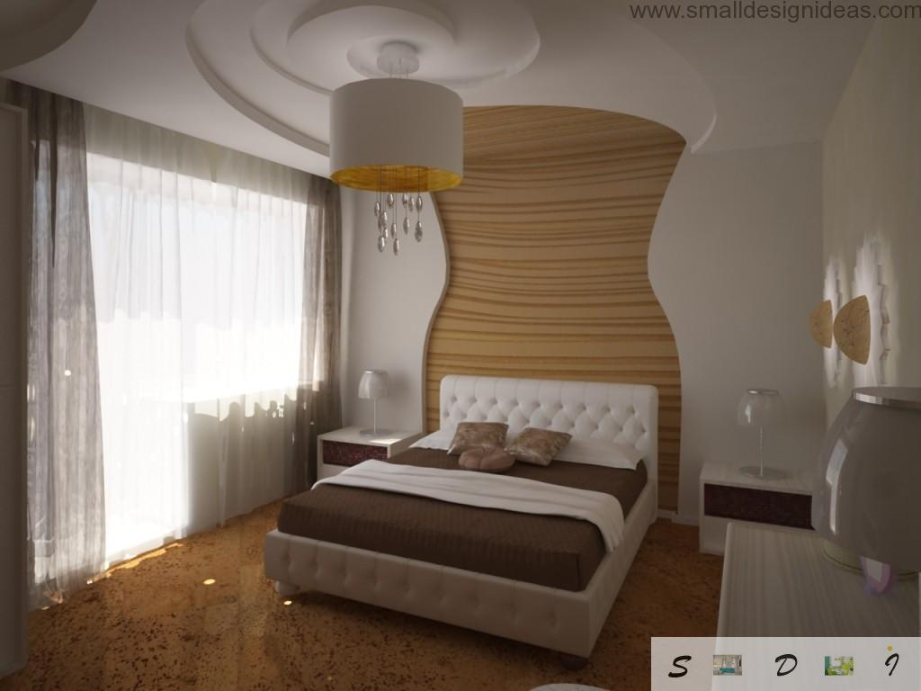 Alternative bedroom wall decoration and paint for the warm and calming interior