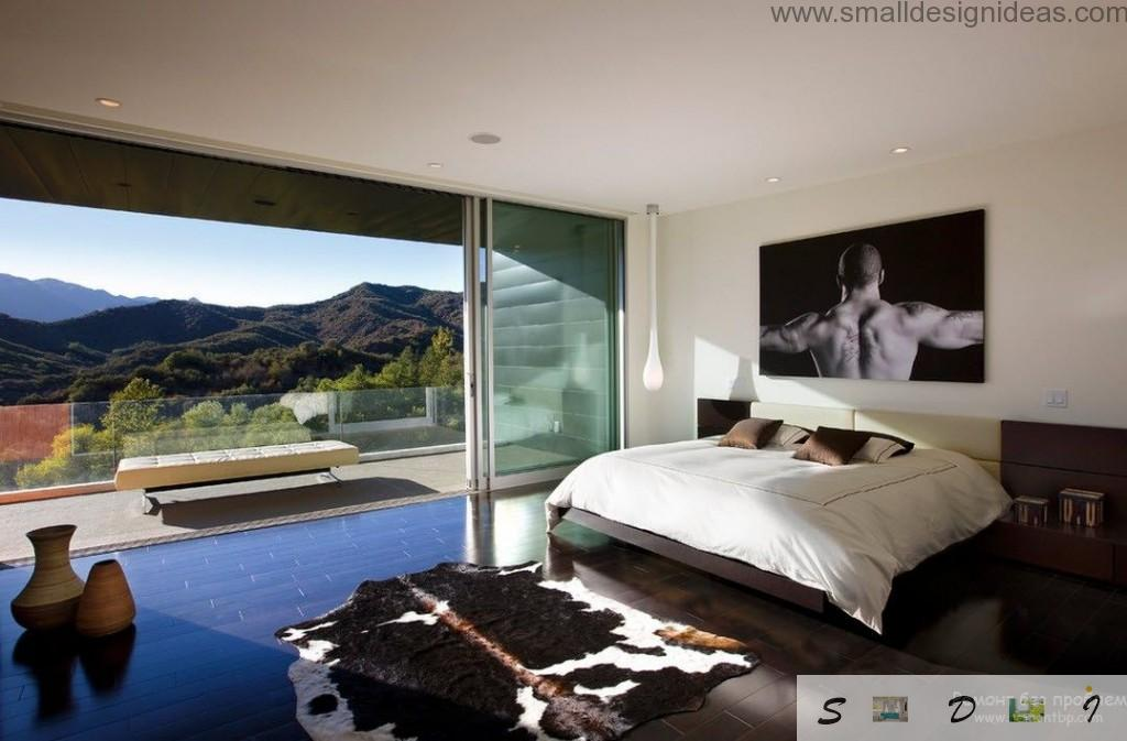 Countryside beutal mix of rustic, modern and minimalistic design in the mens cave
