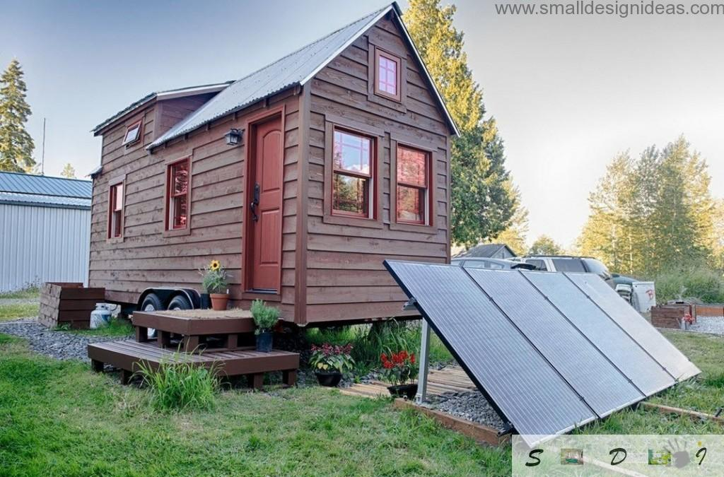 Solar batteries as a energy supply for the mobile house
