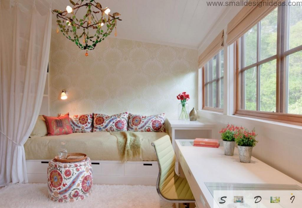Beige color is calming and ideal for bedroom