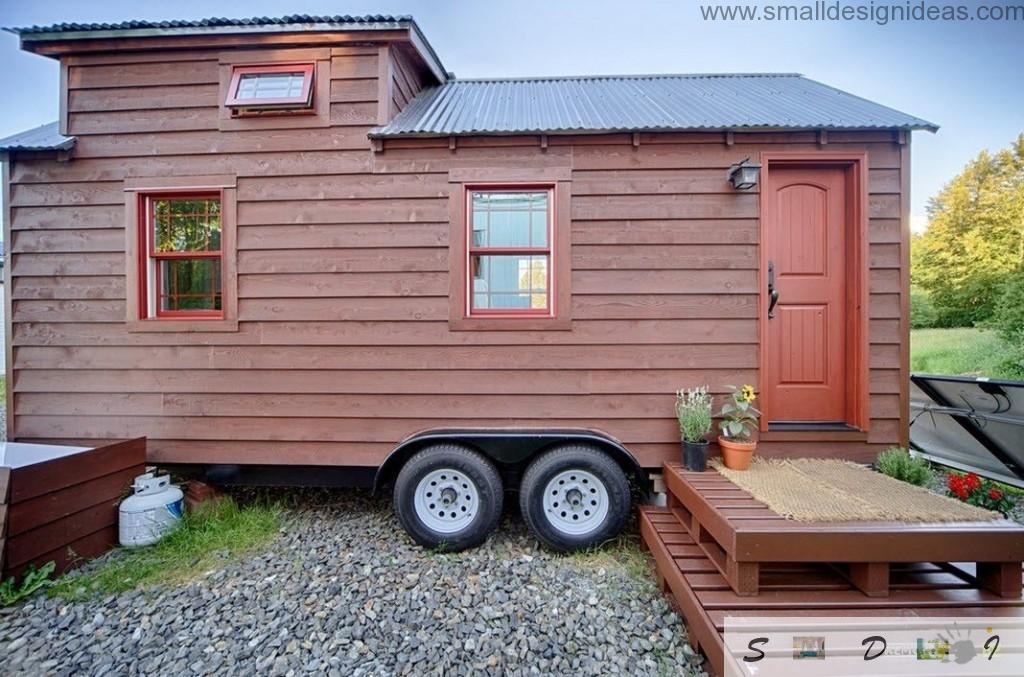 Wooden mobile house exterior design