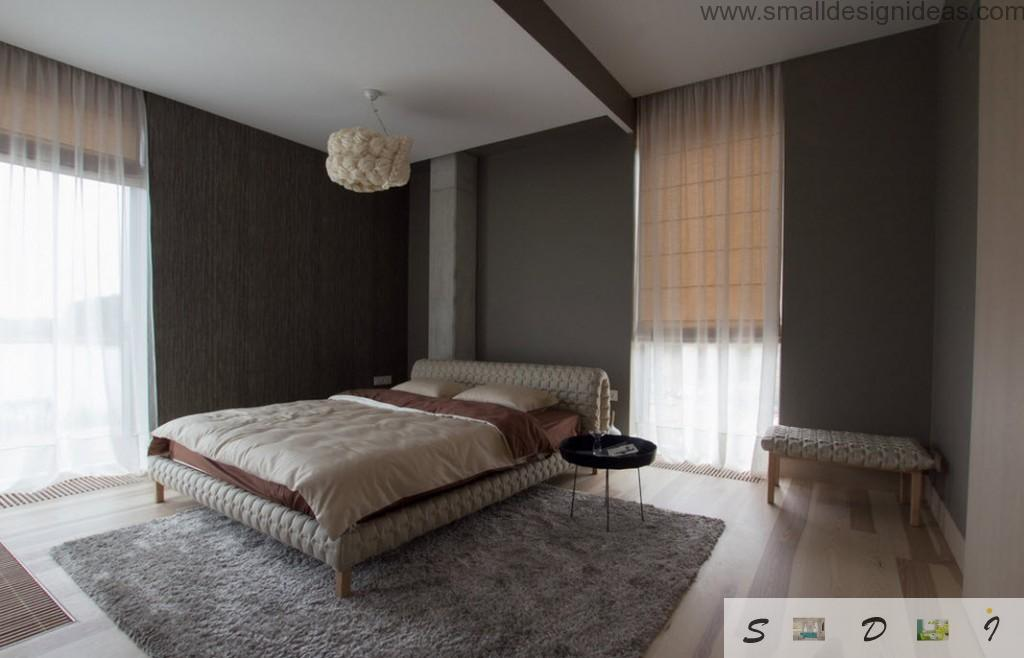 Grandeur interior design of the spacious bedroom with IKEA furniture