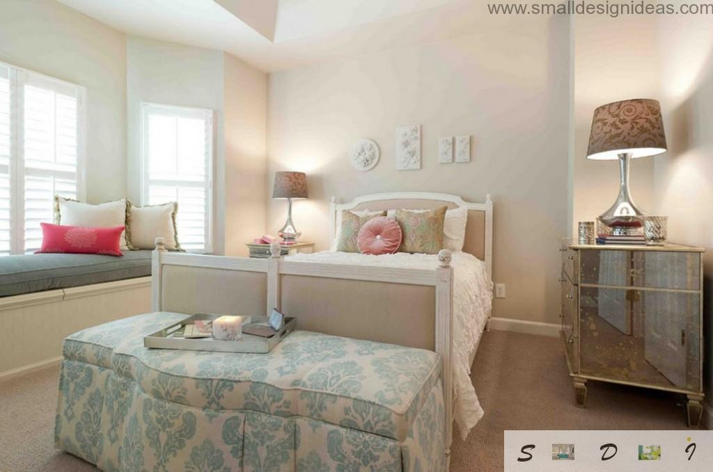 Light green in the bedroom design for girls