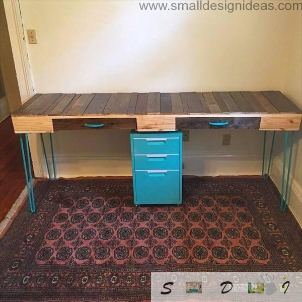 Long pallet table for two children