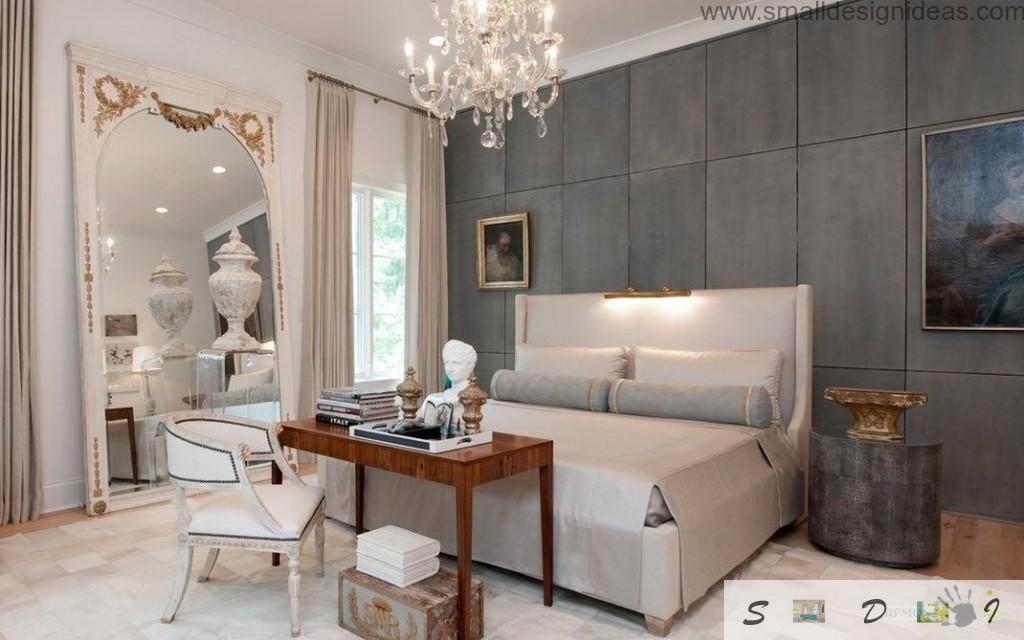 Bedroom Wall Decoration Ideas. classic alternative royal interior in the modern bedroom with soft walls