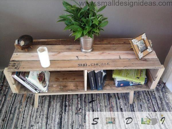 Universal Purpose Of The Pallet Furniture Mobile Table From Pallets
