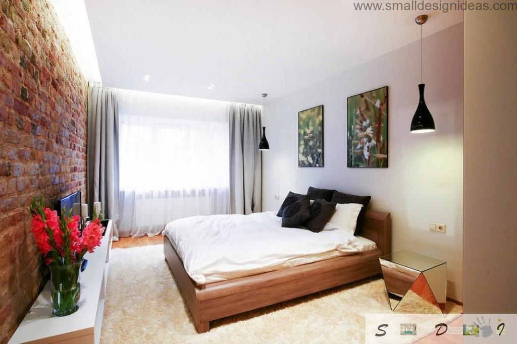 Small bedroom with impressionistic and minimalistic design all-in-one