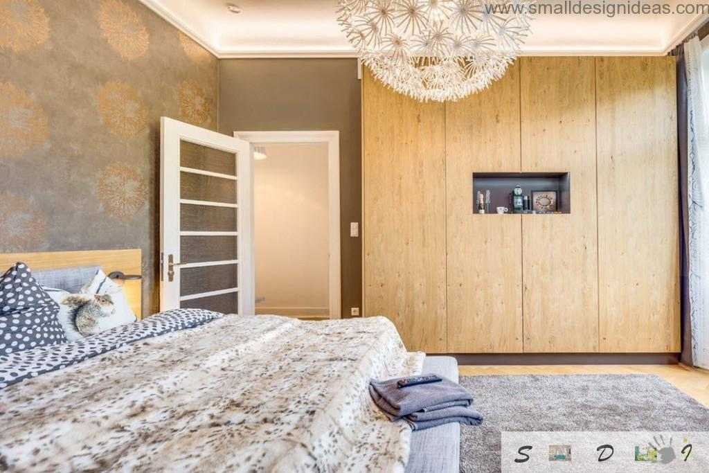 Second bedroom in German loft apartment with huge cabinet-locker