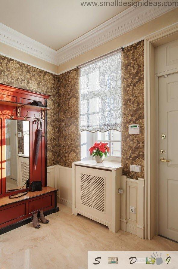 Classic Style House Decorating Real Example. Chic tambour leading to the hallway in the classic designed house