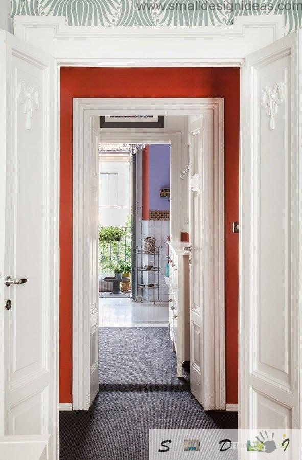 Long enfilade hall шт the fresh modern Milan apartment with eclectic and vintage mix of styles