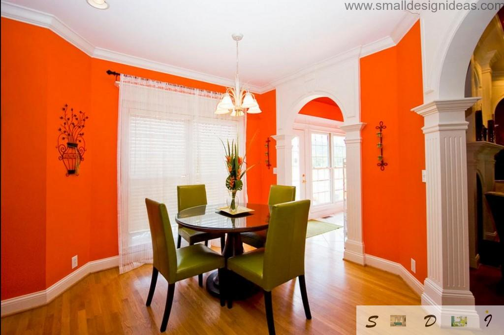 bright colors in the dining room