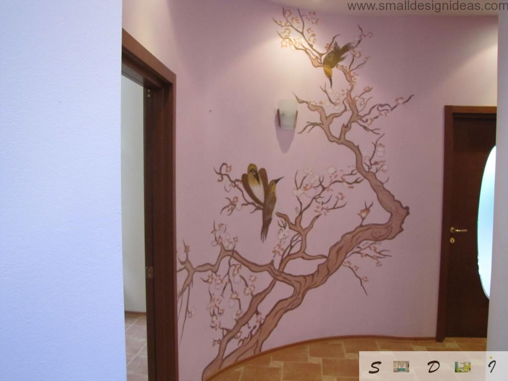 Animalistic painting of the wall