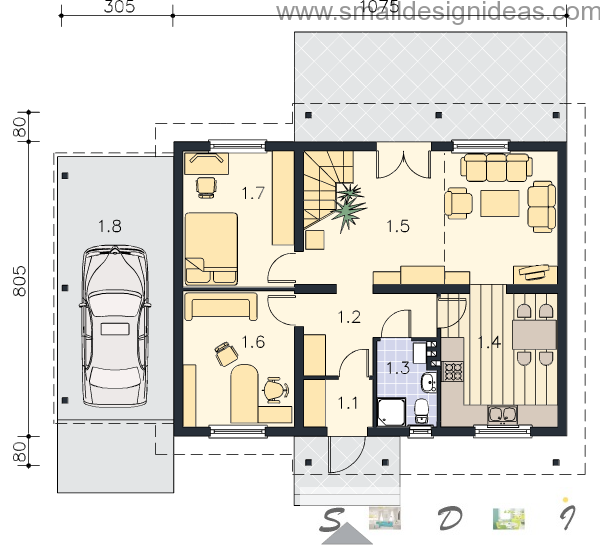 4 bedroom plan house 2-nd floor