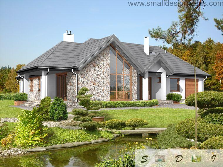 predazzo italian unqiue house design with mansard and 4 bedroom plan - Italian Home Design