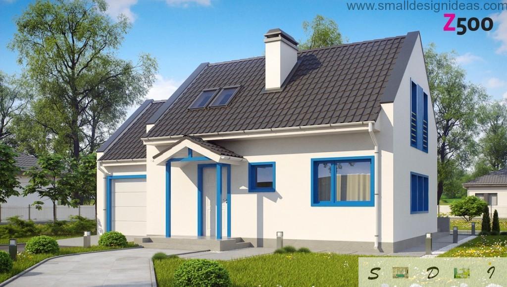2 stores 4 bedroom Scandinavian house plan