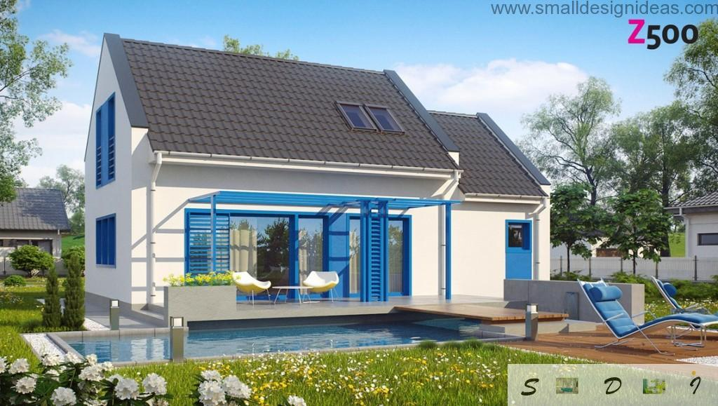 Original cooling white and blue mix of colors of the 4 bedroom house