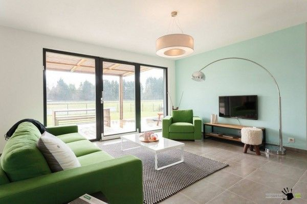 Modern Style Country House Interior Design of the living room