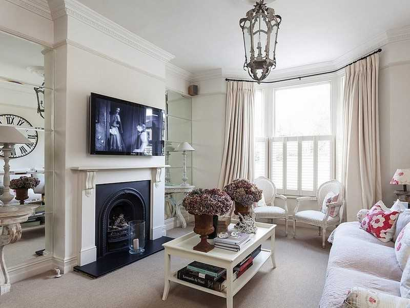 Classic Vintage living room with coffee table to complement the fireplace zone