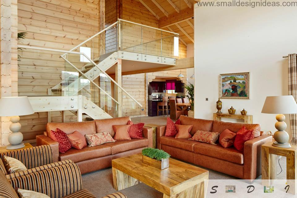 Light wooden countryside interior