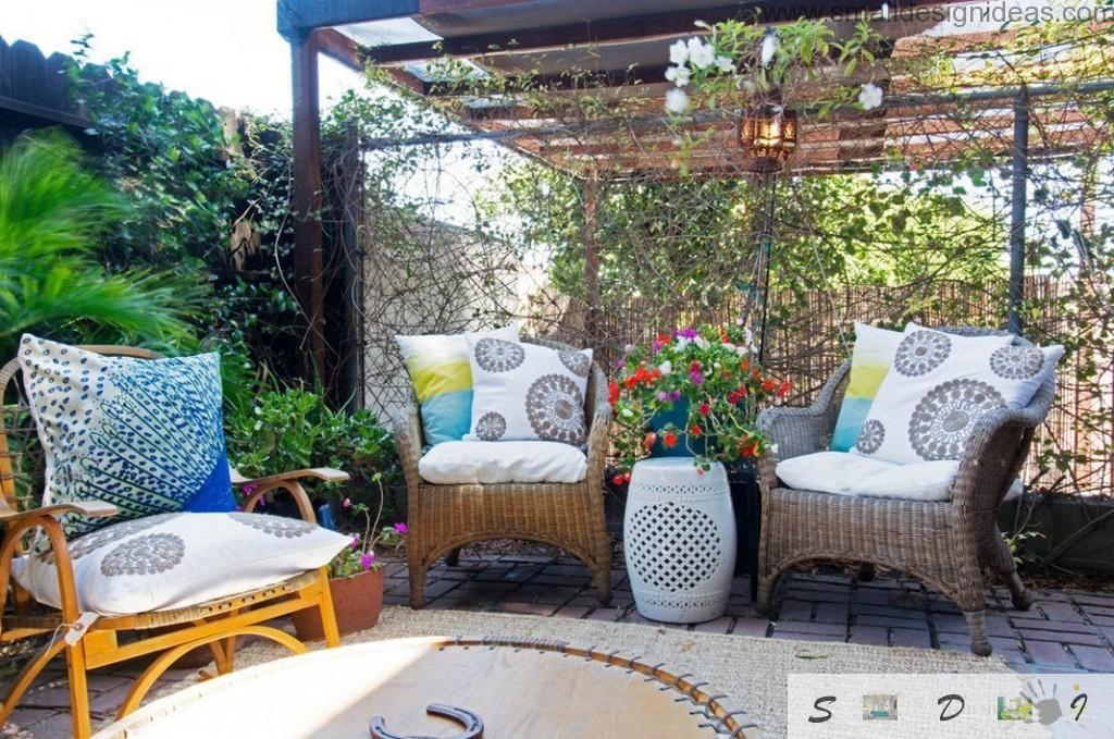 Cozy relaxing zone at the backyard of the eclectic private ownership