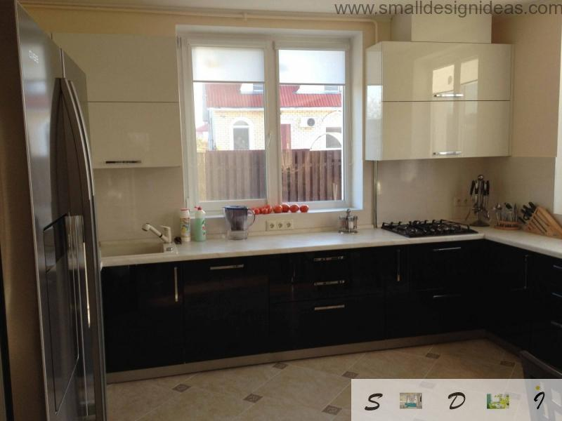 Window near the sink lets you use the windowsill as the bar and provides plenty of light