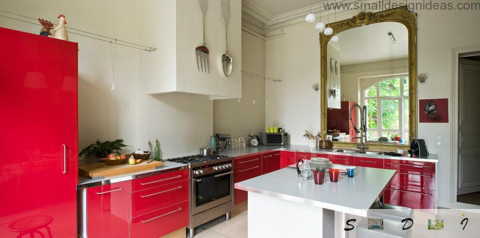 Nice country house island type kitchen panorama