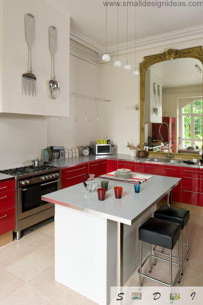 Kitchen is the only place which stands out of the mainstream of Country style in the eco house in village