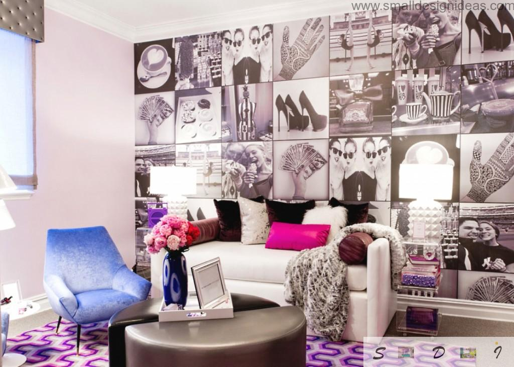 Purple theme to arrange the living room