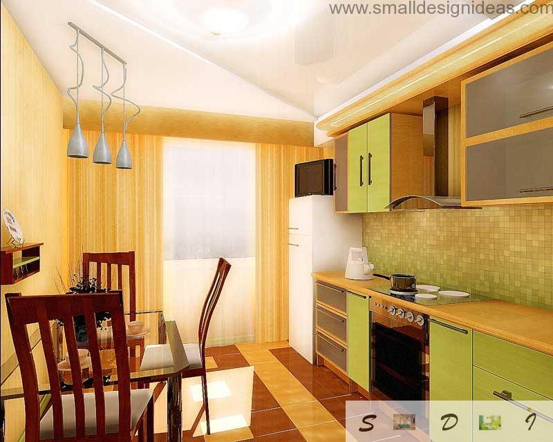 Modern Middle Size Kitchen Remodel Ideas. Simple and joyful remodel of the 12 square meters kitchen