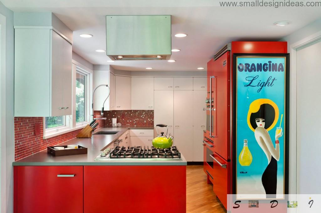 Sanguine debonair colors for the kitchen make it more as public place